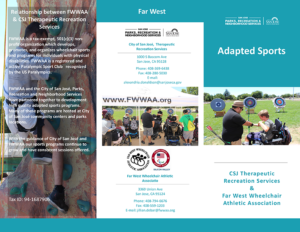 Adapted Sports brochure