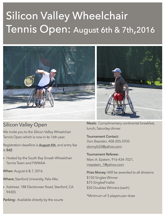 Silicon Valley Wheelchair Tennis Open 2016v3