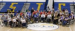 San Jose Spokes DIII wheelchair basketball team