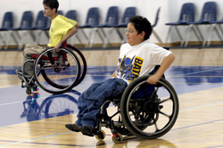 San Jose Junior Spokes wheelchair basketball team