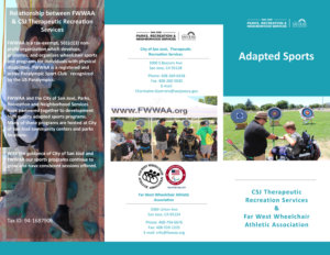 FWWAA Adapted Sports Brochure